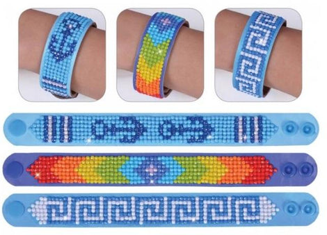 Diamond Dotz BRACELETS SYMBOLIC Rhinestone Facet Painting Kit, Set of 3, kit0207