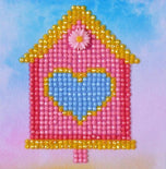 "Diamond Dotz HOME SWEET HOME Bird House Rhinestone Facet Painting Kit, 4x4"" canvas kit0212"