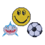 Diamond Dotz SMILE Shark Soccer Ball Sparkle Stickers Rhinestone Facet Painting Kit kit0215