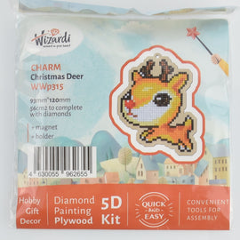 Christmas Reindeer Ornament Kit, Diamond Painting DIY, kit0444