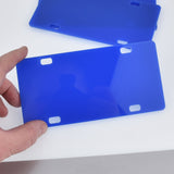"Blue Small License Plate Laser Cut Acrylic Blanks for Vinyl, 6"" x 3"", Lca0799a"