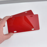 "Red Small License Plate Laser Cut Acrylic Blanks for Vinyl, 6"" x 3"", Lca0801a"