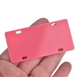 "2 Pink Mini License Plate Laser Cut Acrylic Blanks for Vinyl, 3"" x 1.5"", Lca0806a"