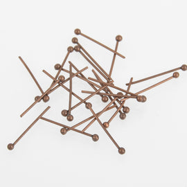 "500 Copper Ball Head Pins, 1-5/8"" long (40mm)  24 gauge pin0028"