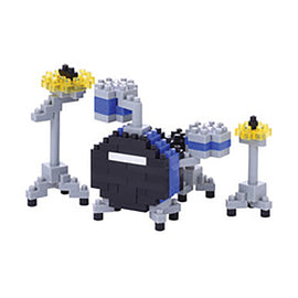 drum set blue Nanoblock kit
