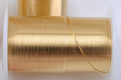 28g Gold CRAFT WIRE, Tarnish Resistant Craft Wire, wire wrapping, 28 gauge, 40 yards (120 feet) spool wir0036