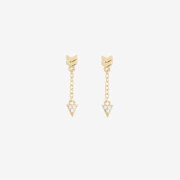 Arrow Pave Drop Earring