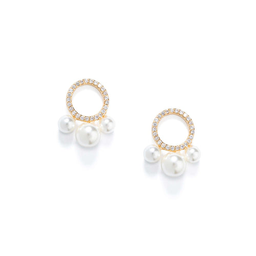 Lolita Pearl Pave StudEarrings Jewelry