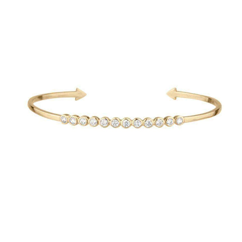 Diamond Bezel Cuff