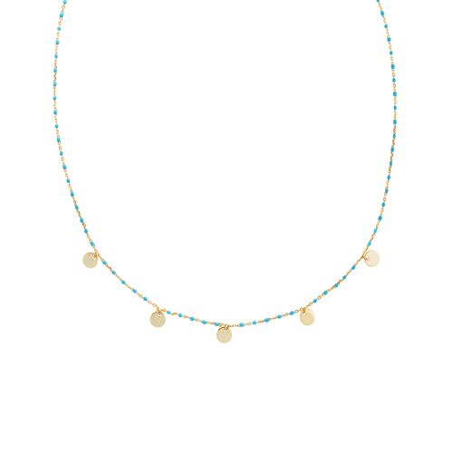 Disc Multi Necklace - TurquoiseNecklaces Jewelry