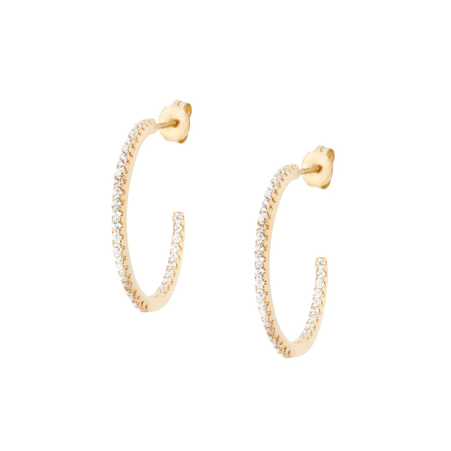 Medium Pave HoopEarrings Jewelry