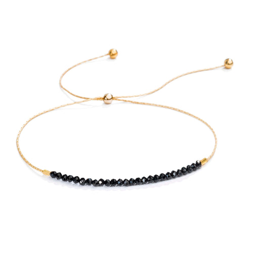 Natasha Gemstone Bracelet - Black SpinnelBracelets Jewelry