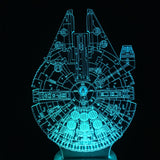Lampe Star Wars 3D- LED - Faucon millénaire