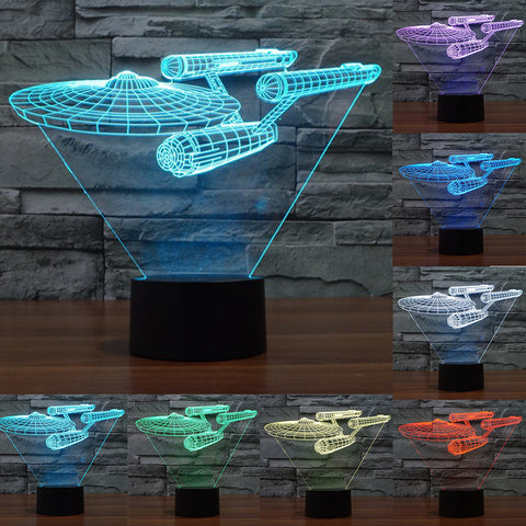 "Lampe 3D ""Enterprise"" Star Trek 3D Trek - 7 couleurs"