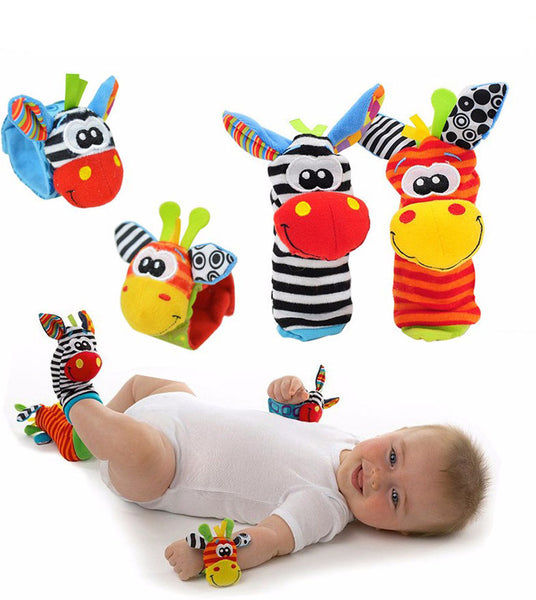 Baby Rattle Socks Wrist Band 4/Pcs