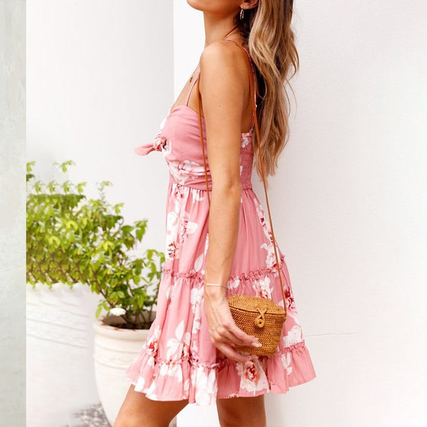 Meadow Blush Pink Floral Print Dress