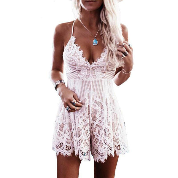 Summertime Lace Romper