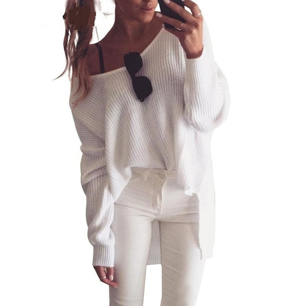 Oversize V Neck  Sweater