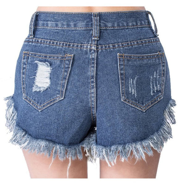 High Waist Denim Shorts Slim Fit outfit