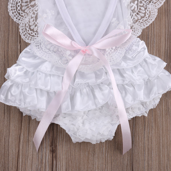 Kahlily White Lace Romper