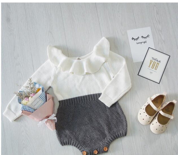 Classic Knitted Baby Romper