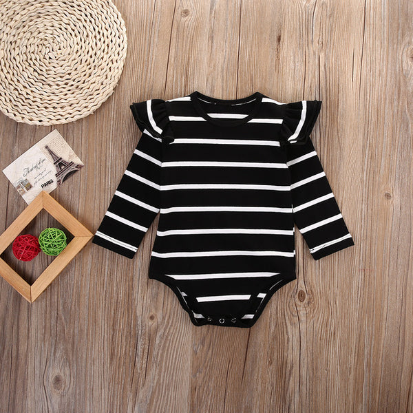 Long Sleeve Striped Romper