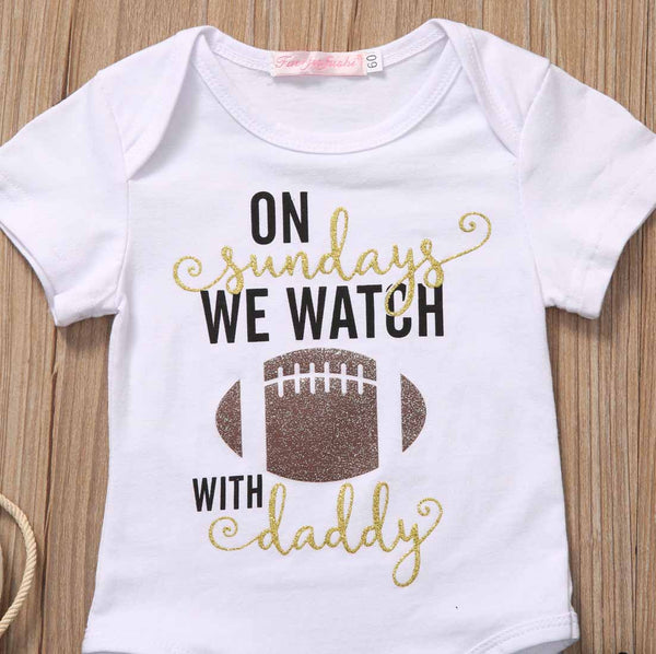 We Watch Football With Daddy 2Pcs
