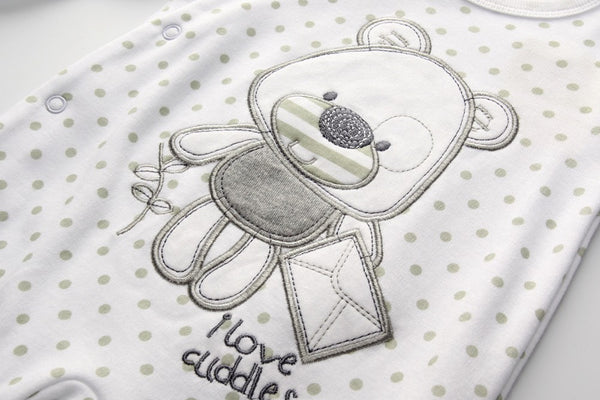 I Love Cuddles Long Sleeve Baby  Romper