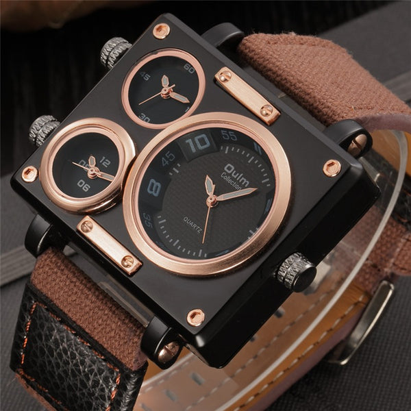 Multiple Time Zone Luxury Watch