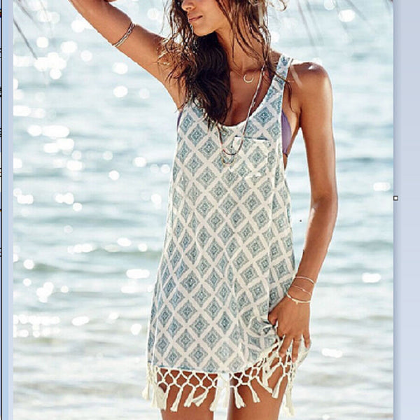 Lace Tassel  Beach Wear Cover-Up