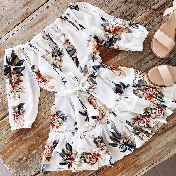 Floral Off Shoulder Mini Dress