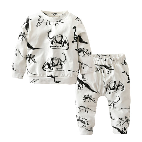 Dinosaur Print Baby Outfit