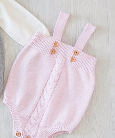 Cute As A Button Knitted Romper