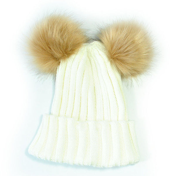 Mommy and Me Pom Pom Hat