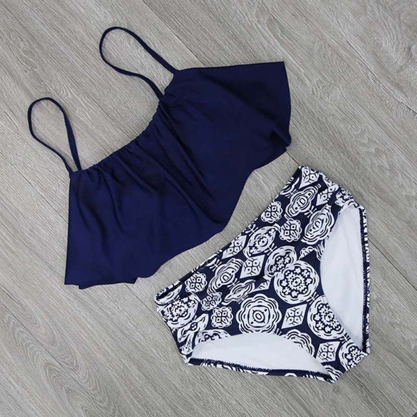 Fresh Water Beach High Waist Bikini Set