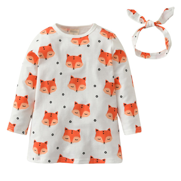 Baby Girl  Fox Printed Dress