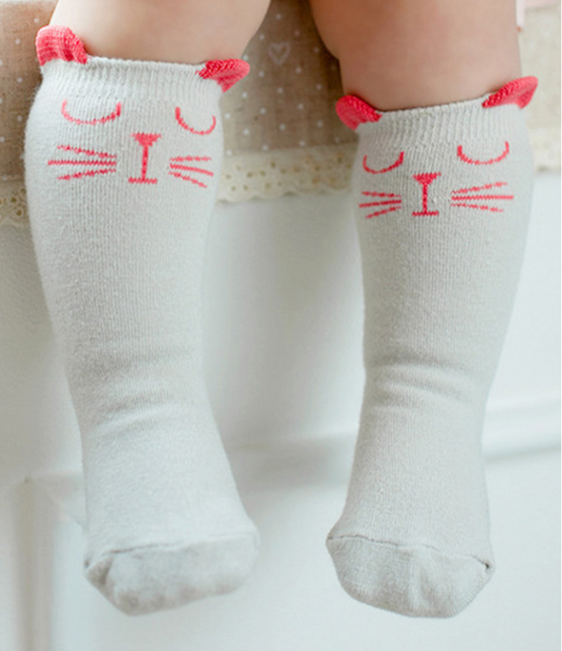 Cute Cat Anti-slip Soft Knee Socks