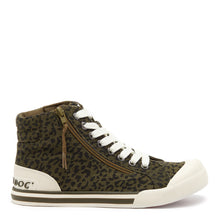 Jazzin Olive Leopard High Top Sneaker
