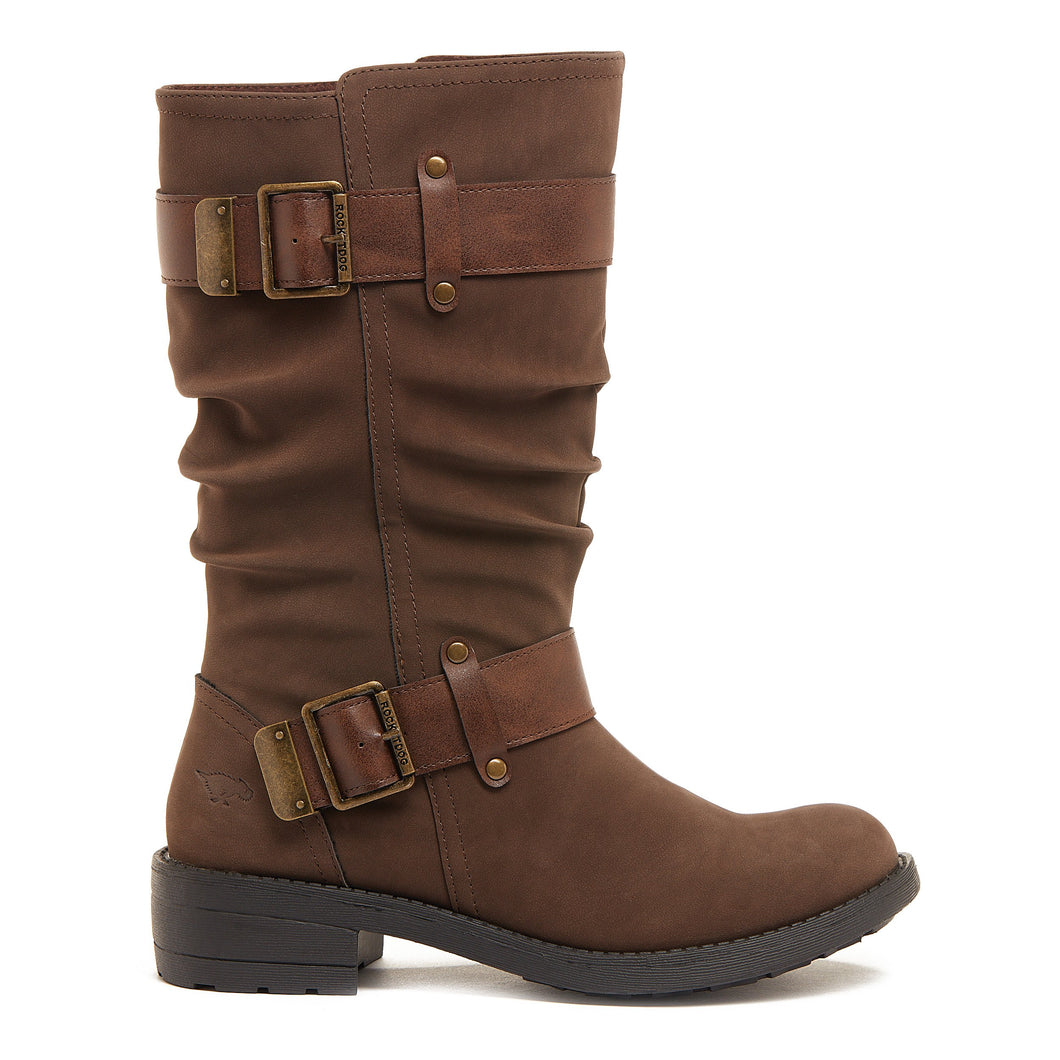 Trumble Brown Buckle Boot