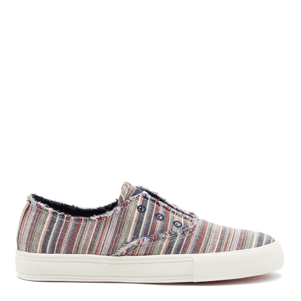 Afina Blue Multi Stripe Slip-on Sneaker