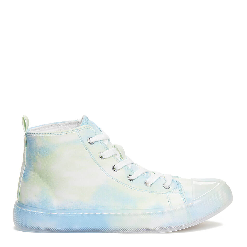 Aiden Light Blue Tie-Dye High Top Sneaker