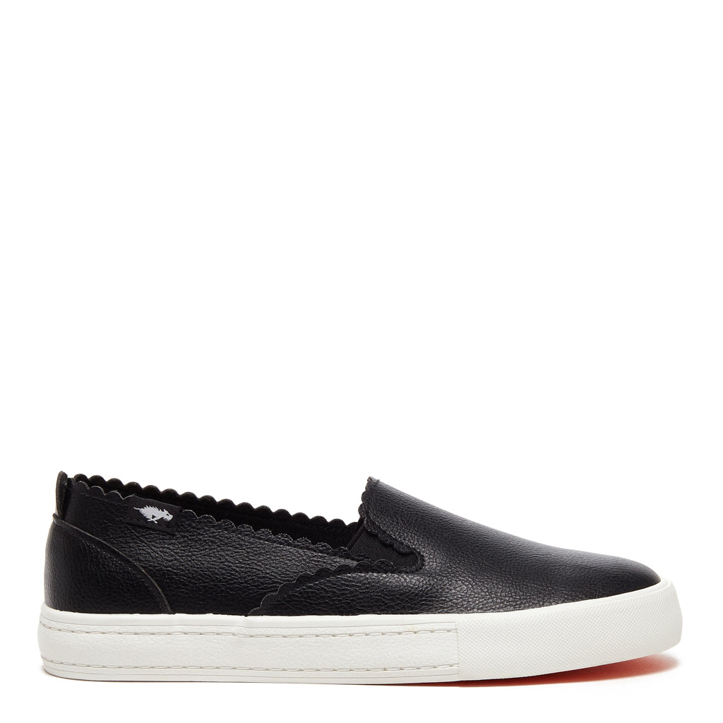 April Grainy Black Slip-on Sneaker
