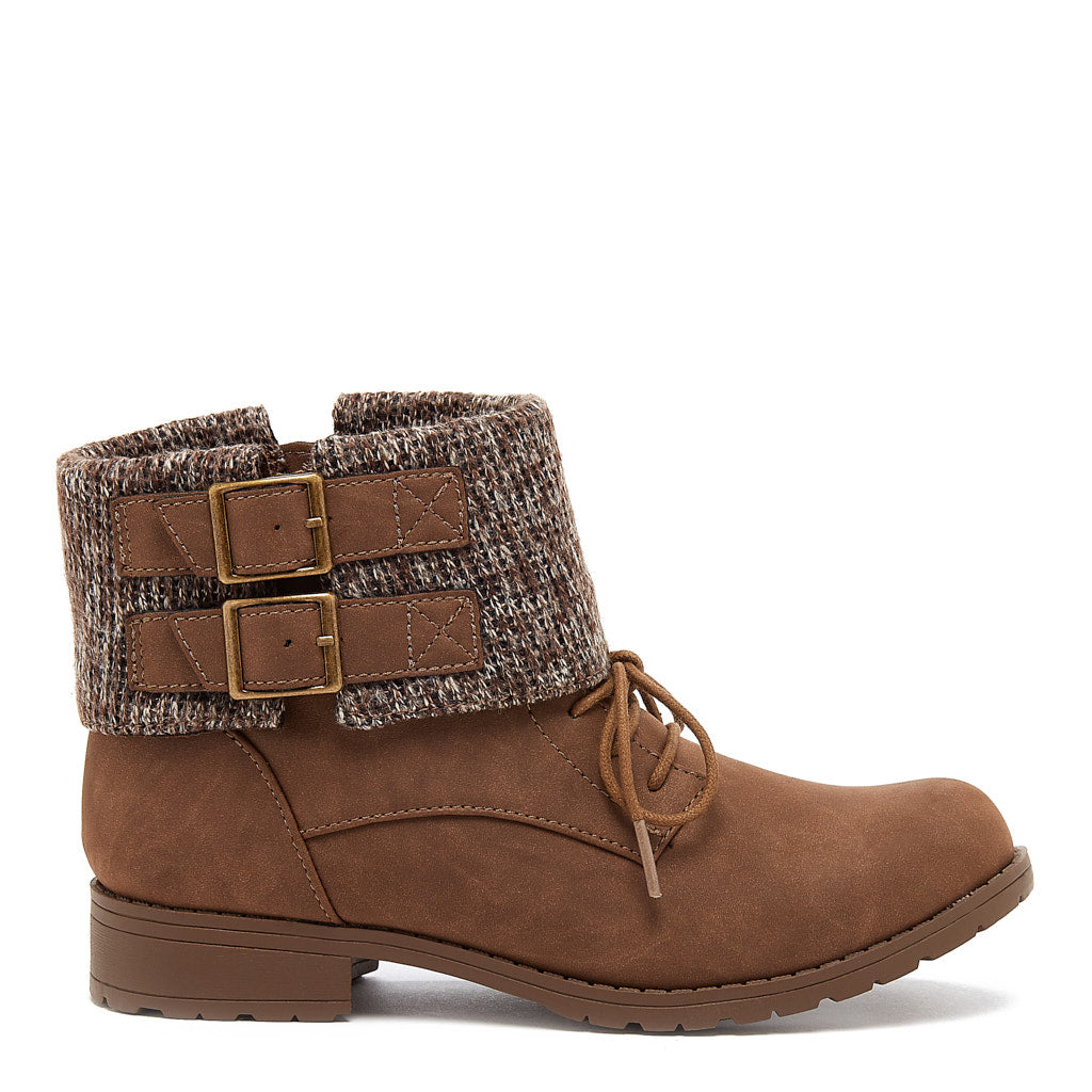 Babster Brown Cuffed Ankle Boot