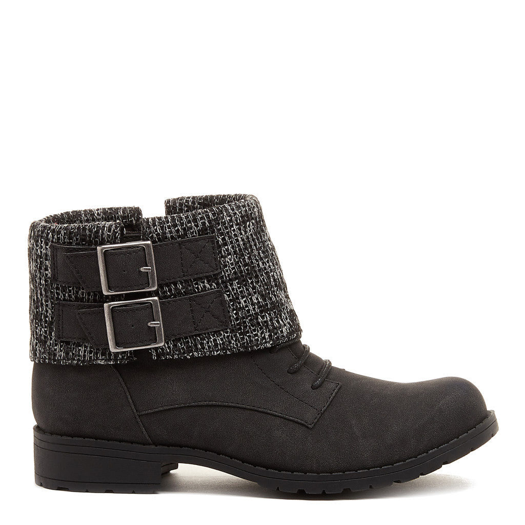 Babster Black Cuffed Ankle Boot