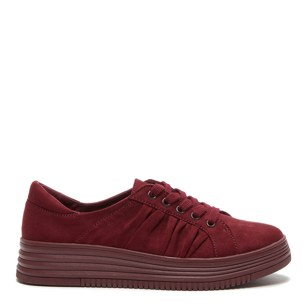 Basha Dark Red Sneaker