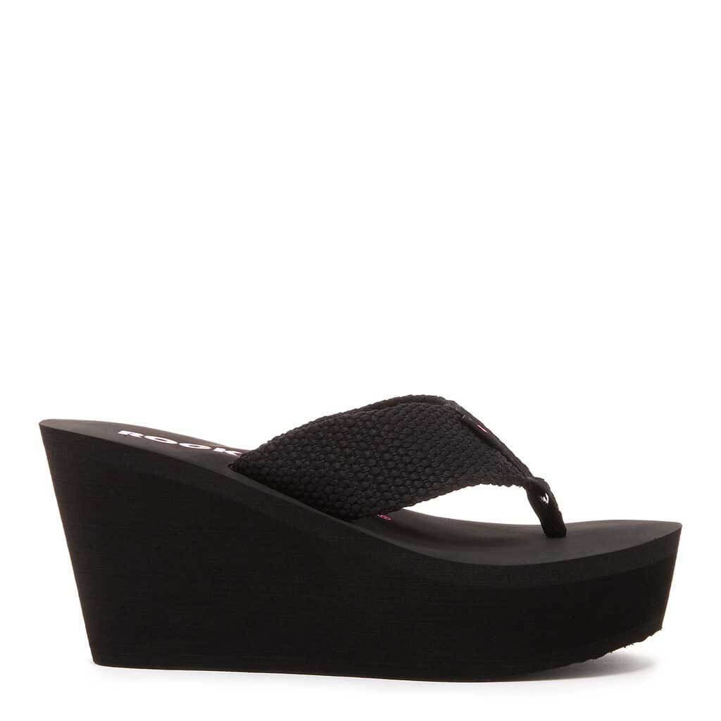 Diver Black Wedge Flip Flop