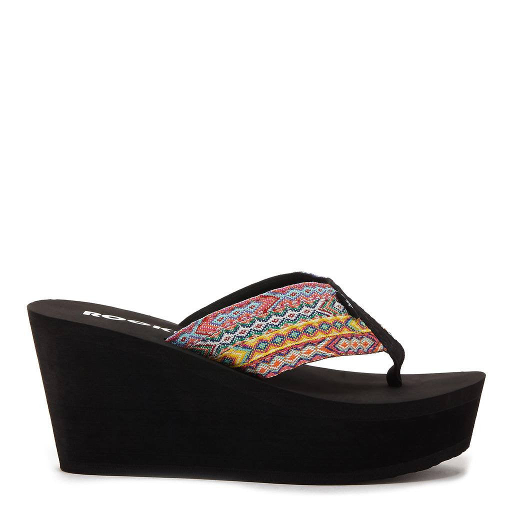 Diver Tribal Wedge Flip Flop