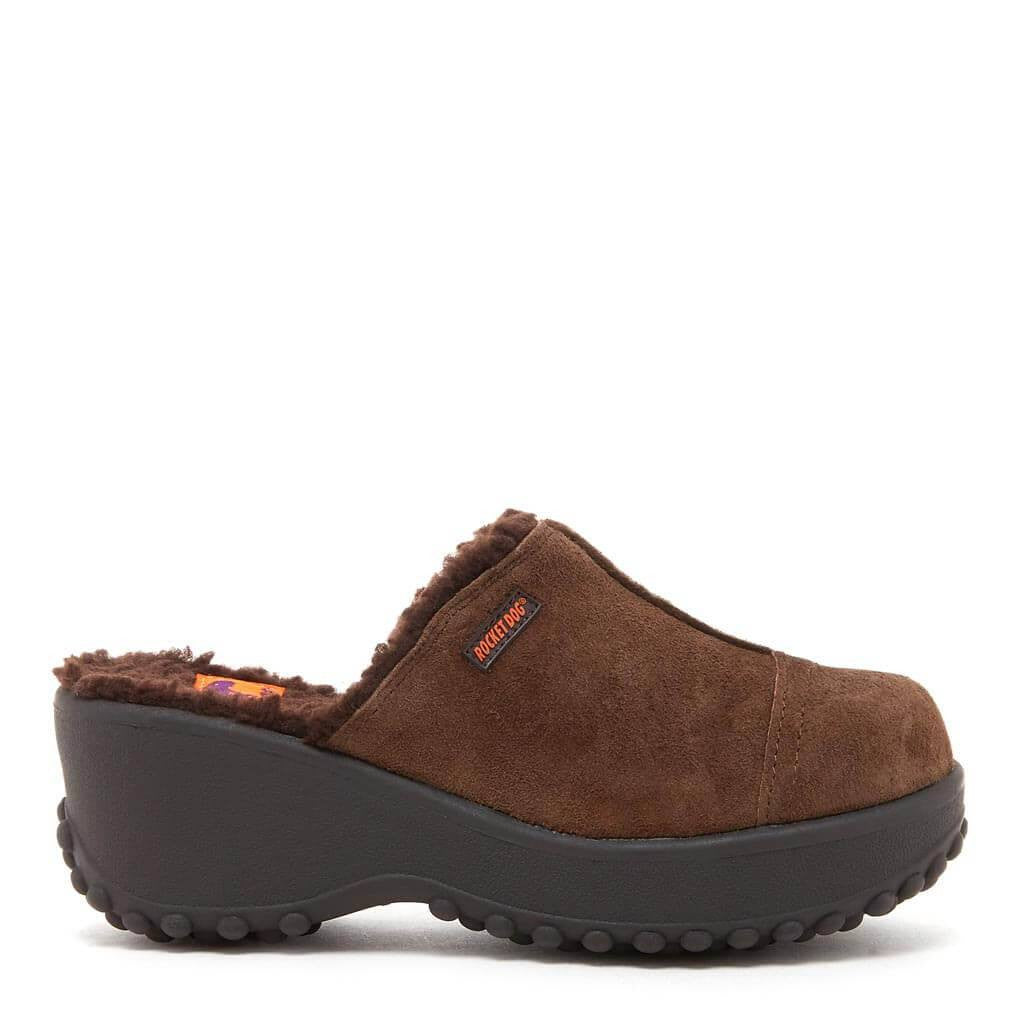 Fran Nubuck Brown Clog