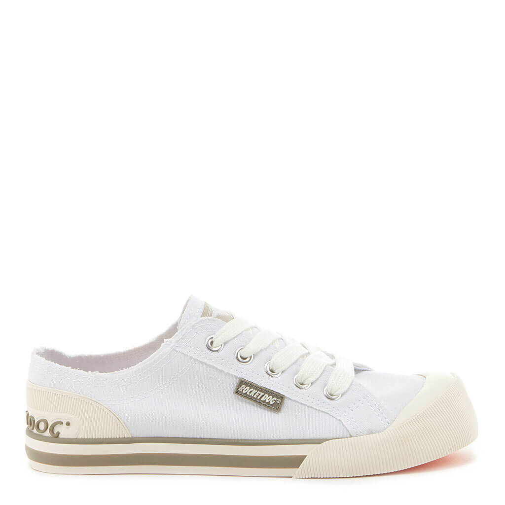 Jazzin White Canvas Women's Sneaker