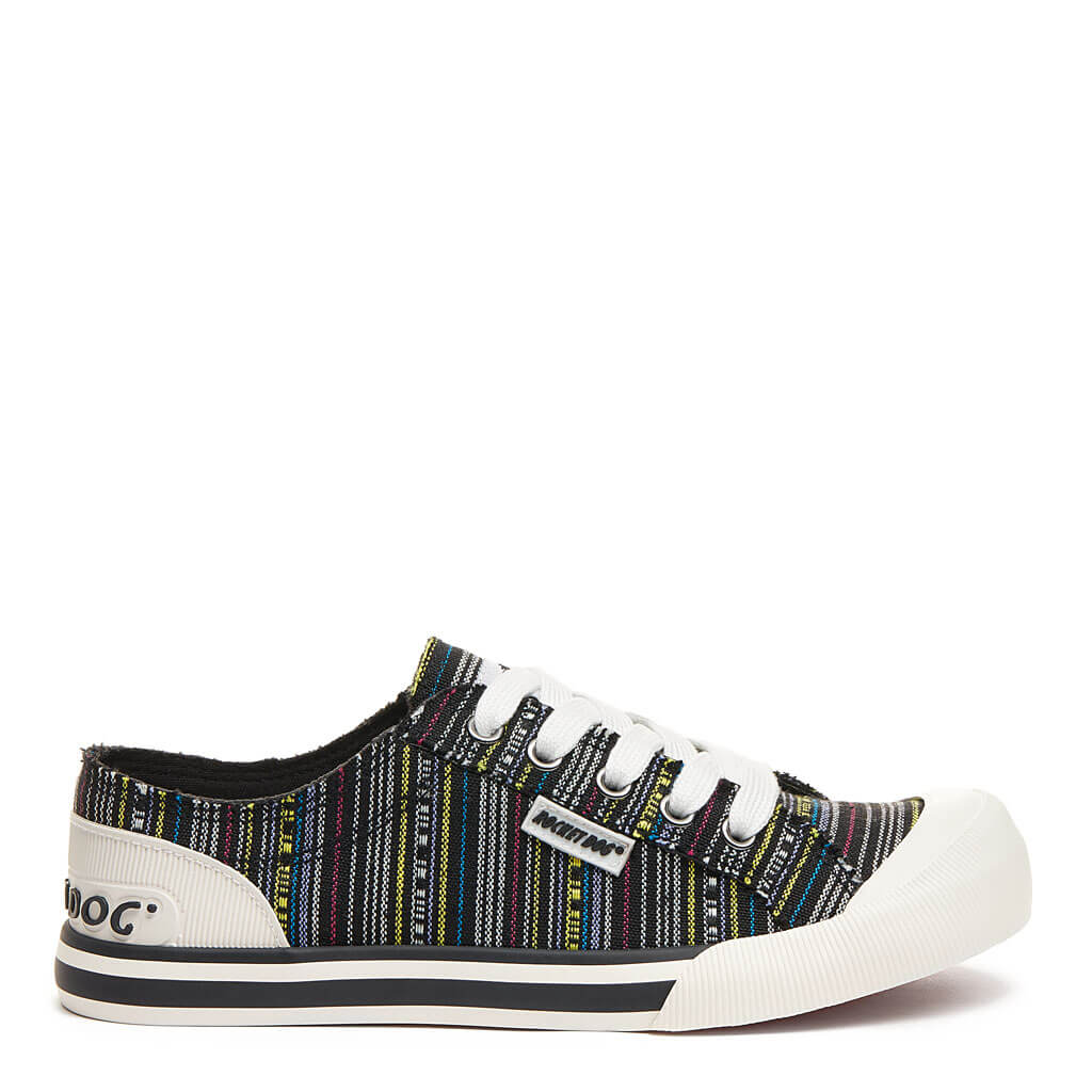 Jazzin Black Multi Stripe Sneaker. Shop Women's Sneakers